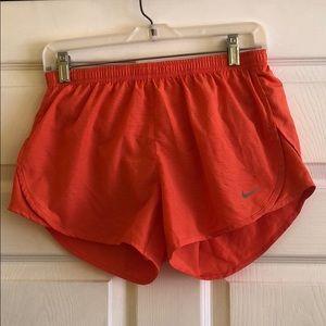 Nike Women's S Orange Running Tempo Shorts